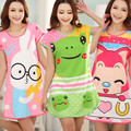 Hot sales! Girls Thin Long Sleepshirts Spring Summer Nightdress Cartoon Animal Sleep Dress Women Cotton Nightgown Sleepwear H067