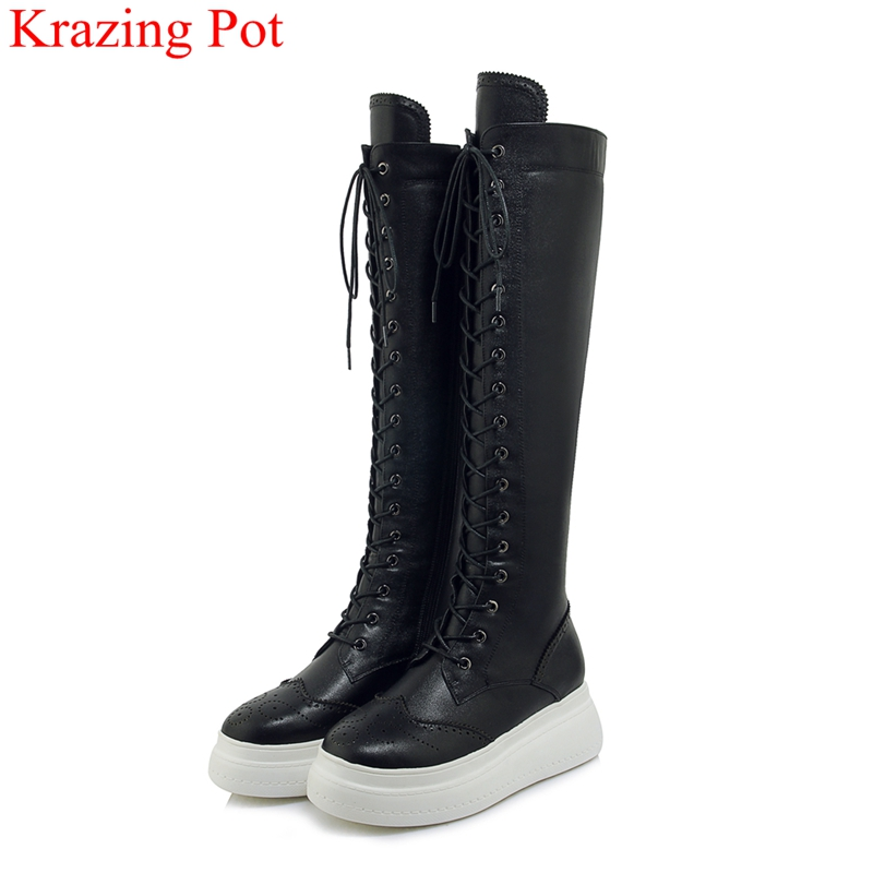 2018 superstar cow leather  high heels wedge knee-high boots zipper platform winter shoes increased Oxford thigh high boots L8f42018 superstar cow leather  high heels wedge knee-high boots zipper platform winter shoes increased Oxford thigh high boots L8f4
