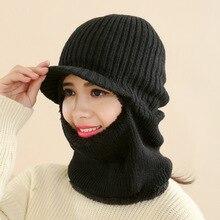 e8b86dcab3b97 2018 nuevo invierno pasamontañas Beanie sombrero femenino para Mujeres  Hombres cara máscara sombrero de esquí sombrero