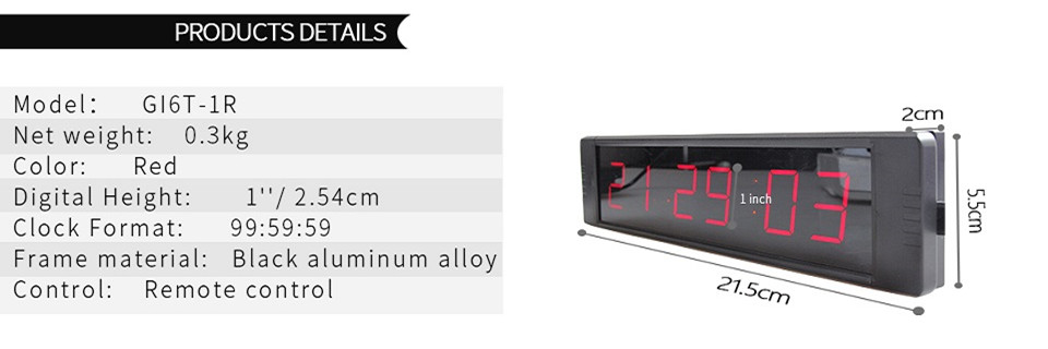 Ganxin1 7 Segment Led Digital Table Clock In Alarm Clocks From