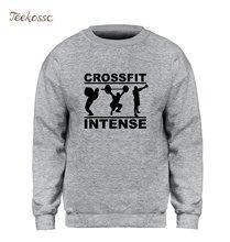 f2840932c29 Crossfit Intensa Moletom Homens de Fitness Musculação Crossfit Treino  Moletom Com Capuz Camisolas de Lã Quente