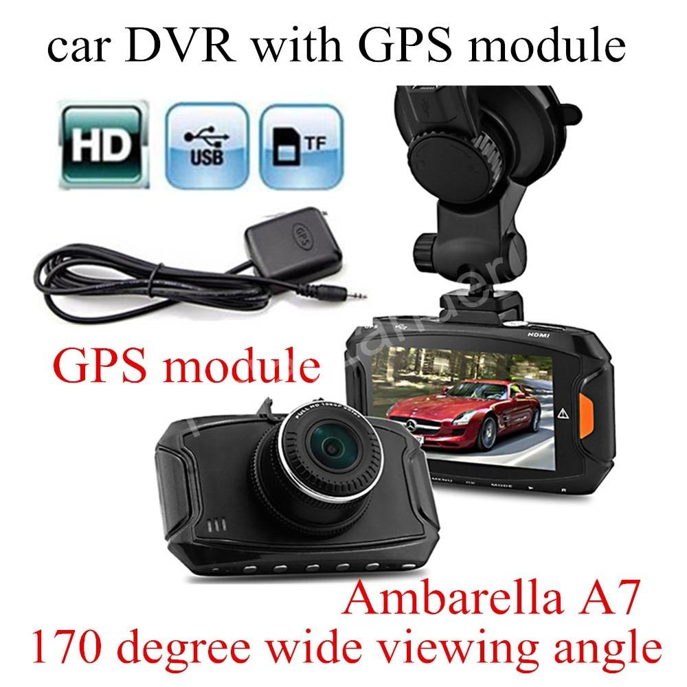 free shipping 2.7 inch Ambarella A7 Car DVR GS90A Camera HD DVR Recorder with Night Vision GPS module Dash Cam auto 2 4 dash camera car dvr wifi car dvr recorder dash cam camera built in gps camcorder night vision g sensor car dvr recorder