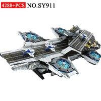 SY911 Супер Герои серии щит Helicarrier модель здания Конструкторы комплект совместим с 76042 классические игрушечные лошадки для детей