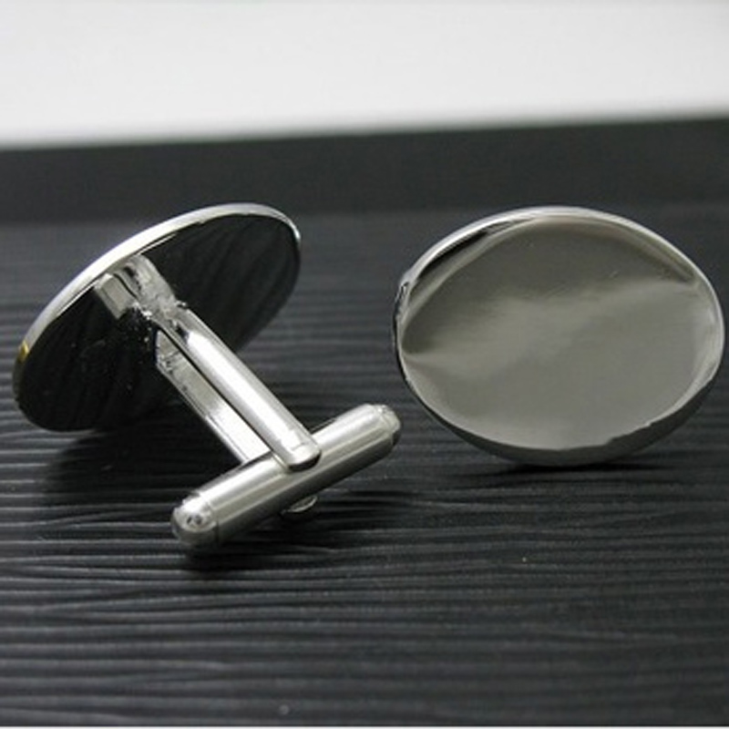 2015 new fashion good silver women/man design Oval jewelry cufflinks C01