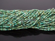 Grade AAA Brilliant Cut Shining Natural Tur-quise Gems Stones 2mm Faceted Round Beads 15″ Jewelry Making 2 Strands/Pack