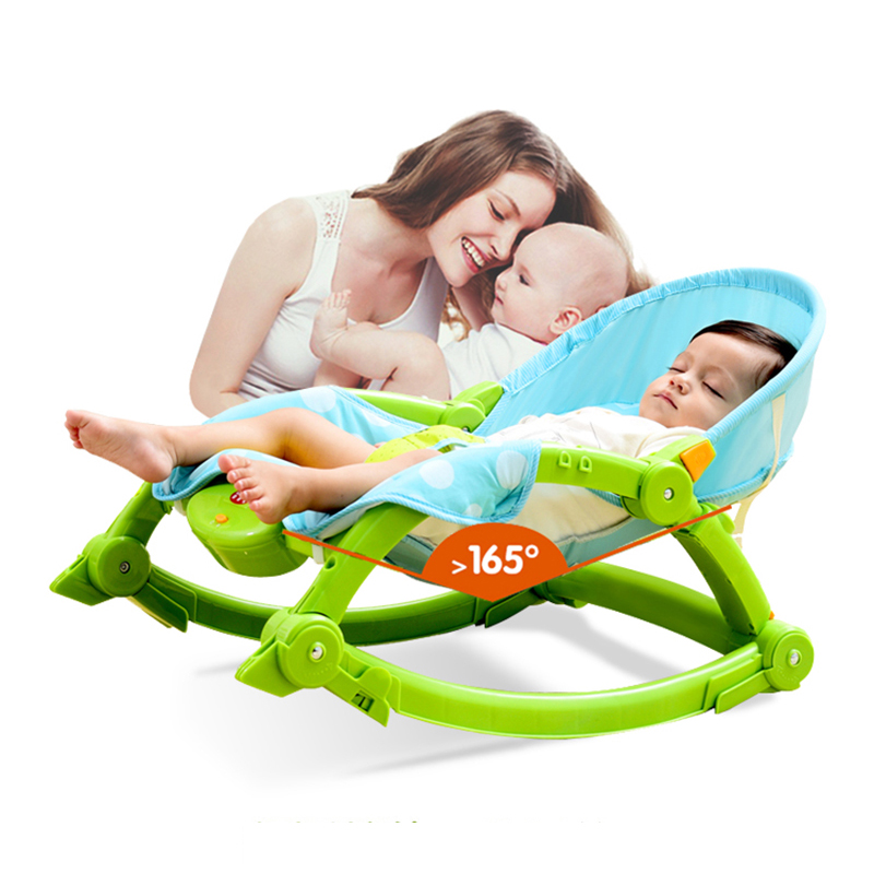 ФОТО dobein baby swing bed  portable infant crib baby multifunction light rocking chair baby cradle food grade plastic easy assembly