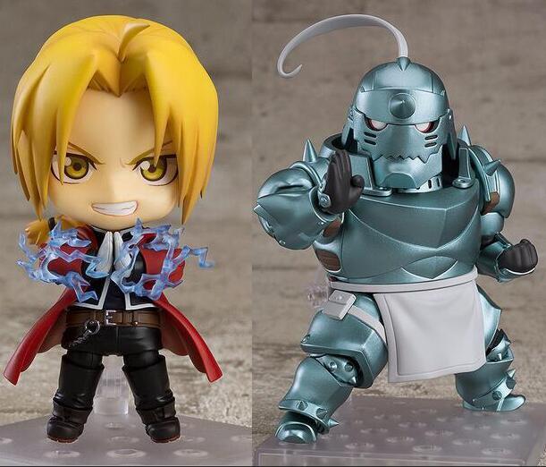 Nendoroid Fullmetal Alchemist Edward Elric 788 Alphonse Elric 796 figura de acción Anime muñeca PVC nuevas figuras de colección Juguetes