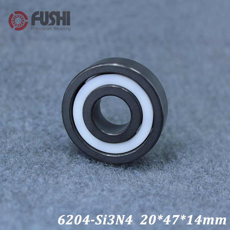 6204 Full Ceramic Bearing ( 1 PC ) 20*47*14 mm Si3N4 Material 6204CE All Silicon Nitride Ceramic Ball Bearings серьги коюз топаз серьги т301025889