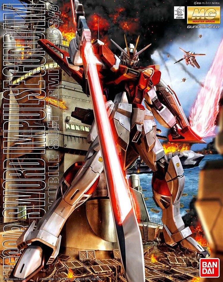 Bandai Gundam 1 100 MG SWORD IMPULSE Mobile Suit Assemble Model Kits Action Figures Plastic Model