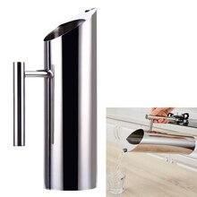 1.5L Wasser Krug Edelstahl Wasser Tee Topf Wasserkocher Jug Kalte Getränke Trinken Saft Topf mit Vereisungsschutz Küche mithelfer