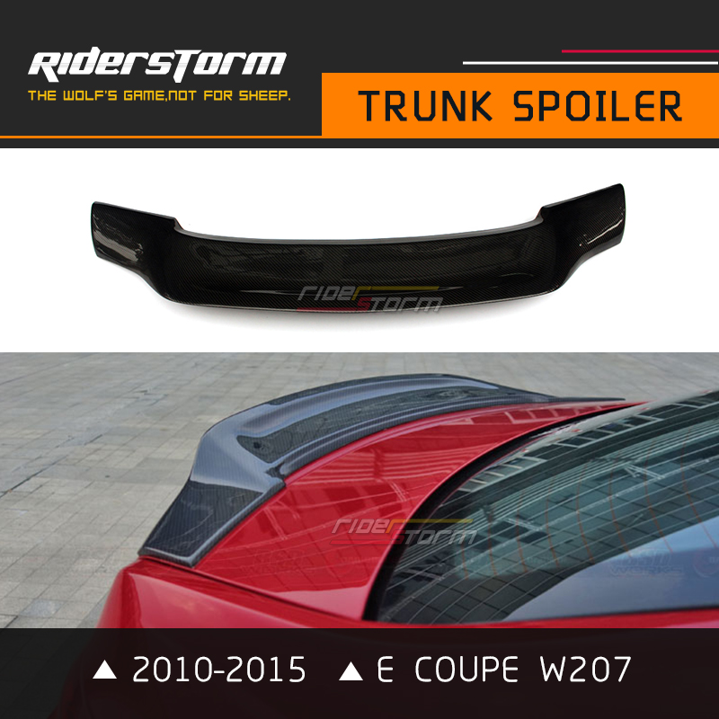 With 3M Tape C207 2010-2015 Carbon R Spoiler E Coupe W207 Rear Trunk Tail Wing Bootlid L ...