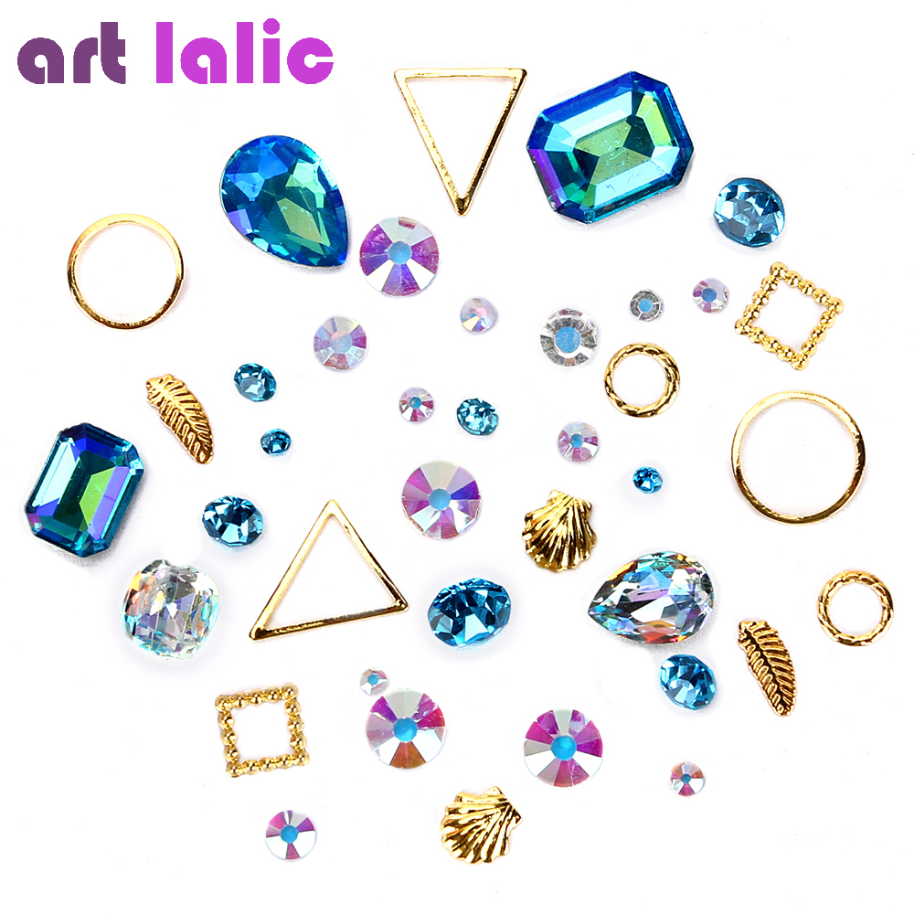 Artlalic 1 Bag Hot 3d Charm Nail Art Design Stone Decorations Strass Rhinestones Alloy Mini Beads Gems Mixed Jewelry Accessories artlalic 1 wheel new 3d nail decorations tools charm perfume bottle flowers triangle rhinestones diy nail art jewelry promotion