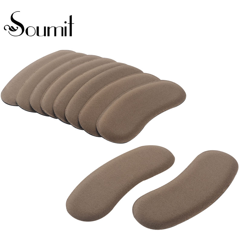 Soumit 5 pair Heel Pad Wear resistant Fashion Heel Protector Foot Adhesive Liner Pads Pain Relief Cushion for Women Shoe Sole new fashion high quality a pair of high heel cushion foot cushion protector shoe pads comfortable polyester women men unisex
