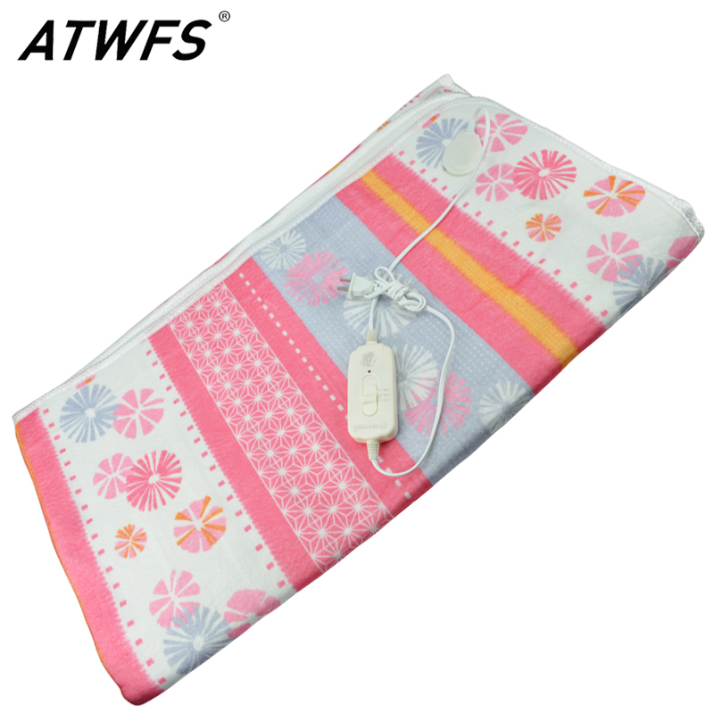 ATWFS 150*120cm Electric Heated Blanket Double Bed Electric Carpet Body Warmer Heating Pad Warmer Thermostatic