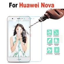 For Huawei Nova Tempered Glass For Huawei Nova 2.5D HD Premium Screen Protector Toughened Glass Anti-glare Guard Film Case Cover