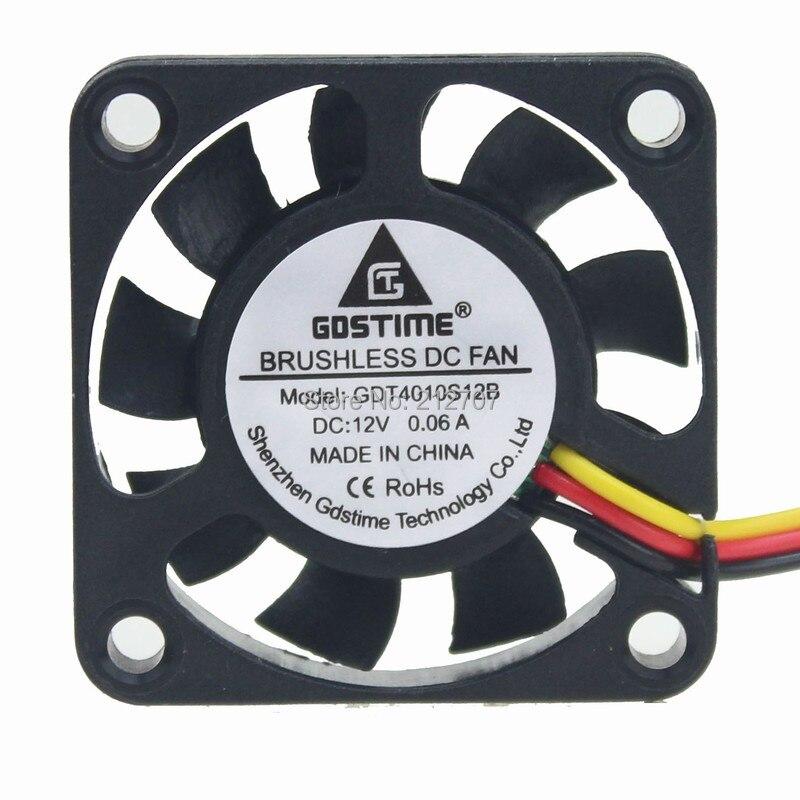 50 шт. Gdstime вытяжной вентилятор постоянного тока 12 V 3Pin 4010 40 мм 4 см 40x10 мм 9 лезвий