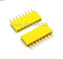 50Pcs Yellow 2.54mm 8pin 8p Dip Single Row Female Pin Header Connector For Arduino