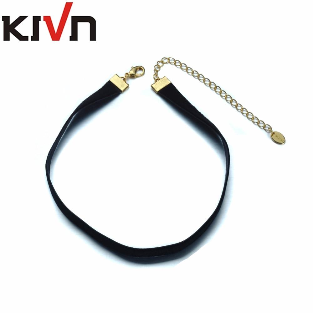 KIVN Fashion Jewelry Black Retro Gothic Punk Choker Collar Necklaces for Women font b Christmas b