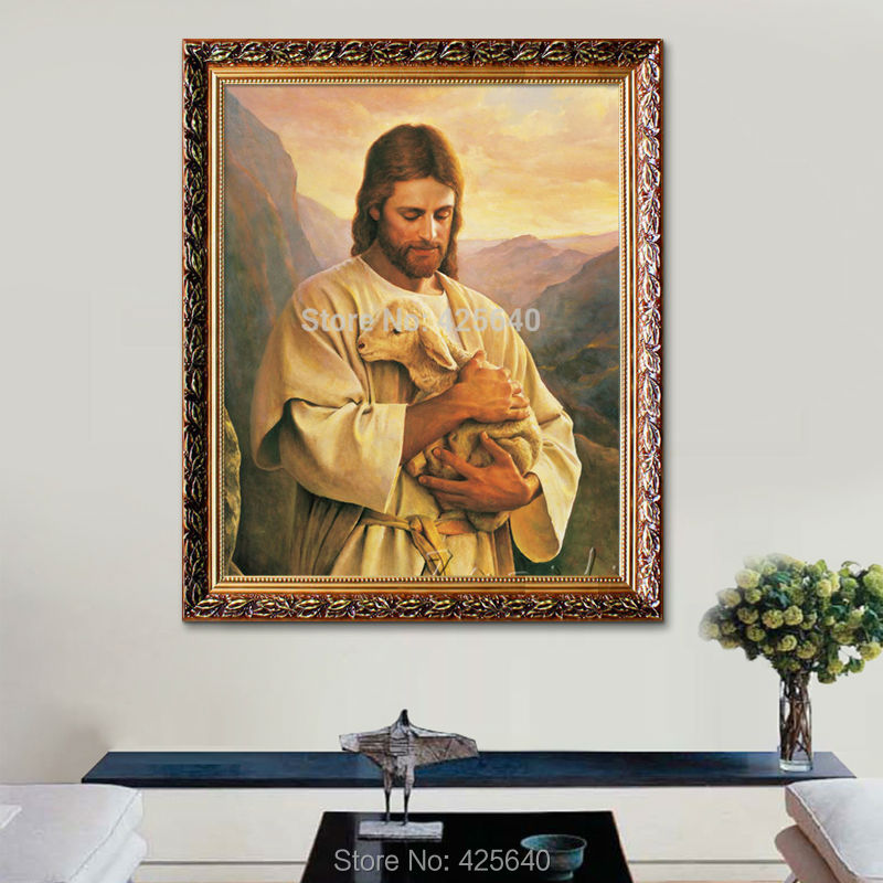 Jesus christ of the good shepherd catholic poster and for Living room 12x18