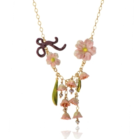 European fashion jewelry  les nereides lily  of the valley  gold Plating Necklace party jewelry  -Free Shipping