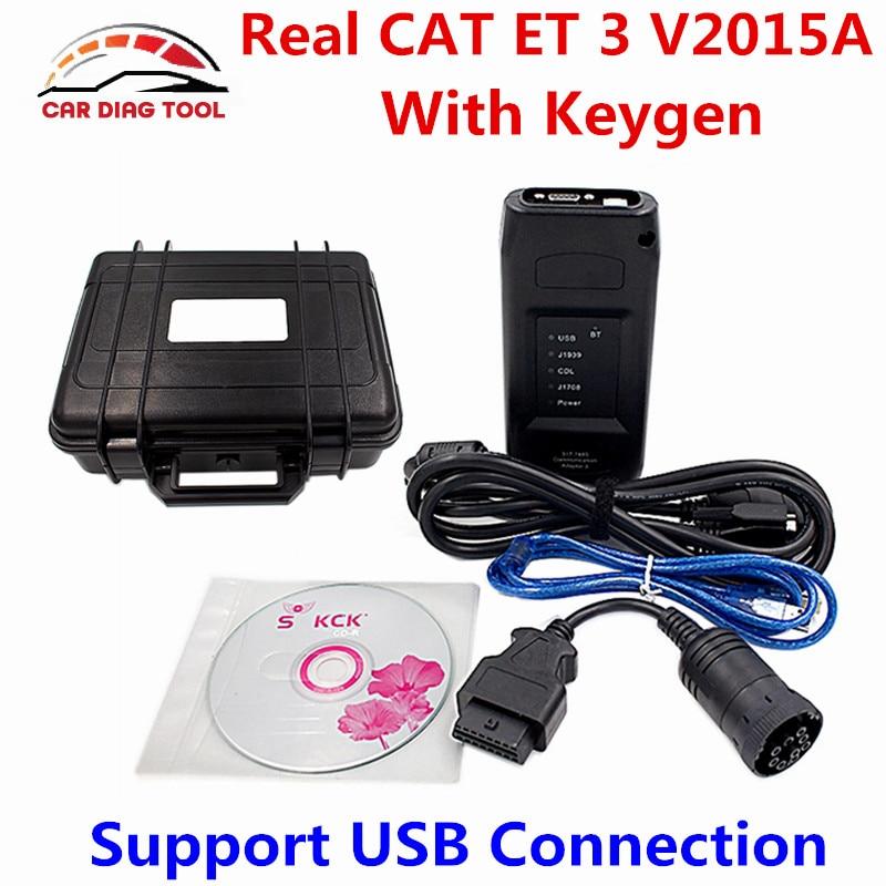 Prix pour Nouveau 2015A Réel CAT ET 3 CAT3 USB Adaptateur Communication 317-7485 ET Adaptateur III Camion Outil De Diagnostic Avec Keygen DHL Libèrent Le Bateau