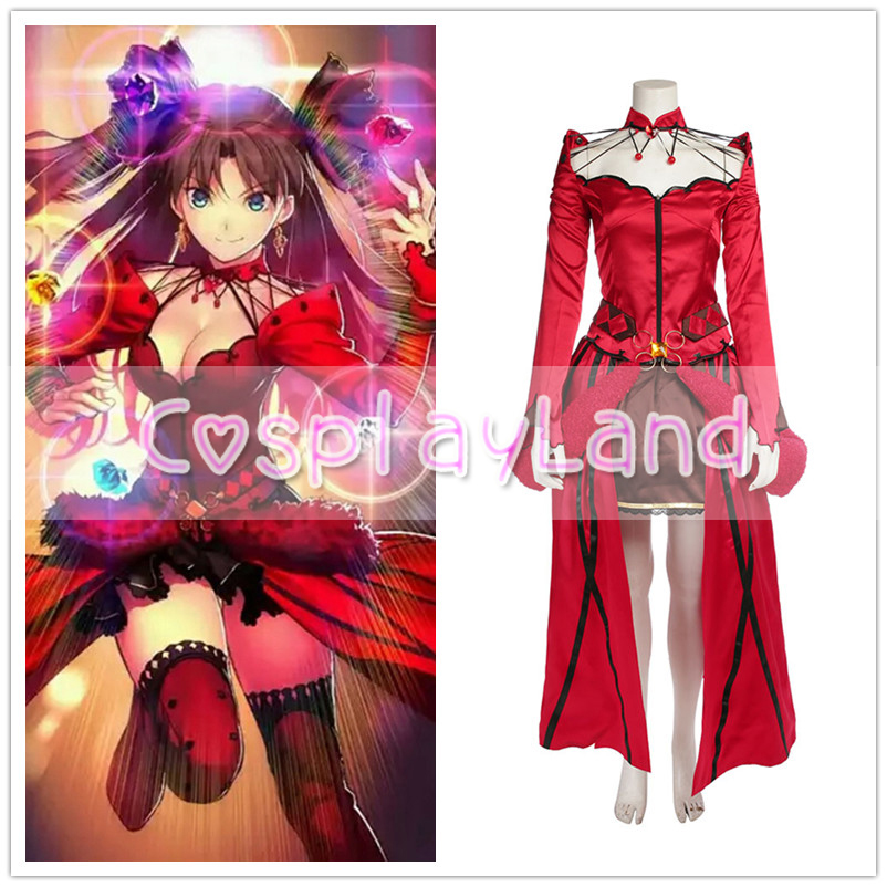 FateGrand Order Rin Tohsaka Cosplay Costume Custom Made Carnival Halloween Sexy Costume Formal Craft Tohsaka Rin Dress