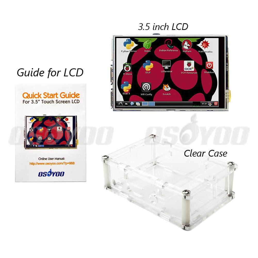 3.5 pollice Raspberry Pi LCD TFT Touchscreen Display per Raspberry Pi 2 e Pi 3 Modello B LCD + Acrilico Caso FreeShip