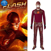 New arrival Hot Movie The Flash Costume Suit Adult Mens Halloween Superhero Cosplay Carnaval For Men