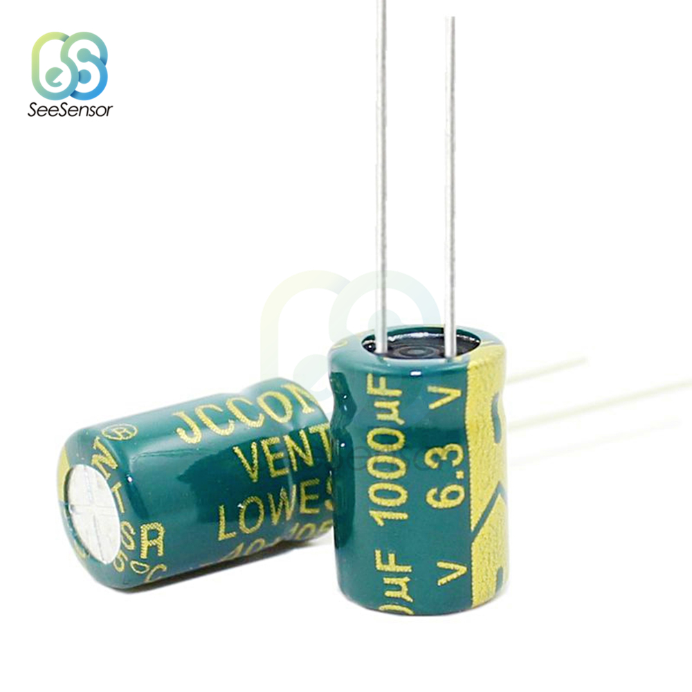 20pcs High Frequency LOW ESR Aluminum Electrolytic Capacitor 6.3V 1000uF 8x12mm