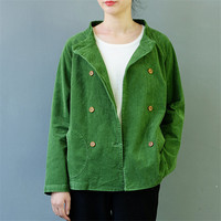 2017 Autumn Winter Jackets Women Casual Solid Corduroy Short Coats Female All Match Outerwear Windbreaker S453