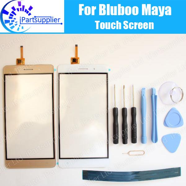 Maya Bluboo Tela Sensível Ao Toque Digitador de Vidro Do Painel de Toque Digitador 100% Original Garantia Para Bluboo Maya + ferramenta + Adhesive