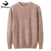 Palager Men S Cable Solid Sweater Slim Fit Round Neck Sweaters Pullovers Knitted Long Sleeve 2017