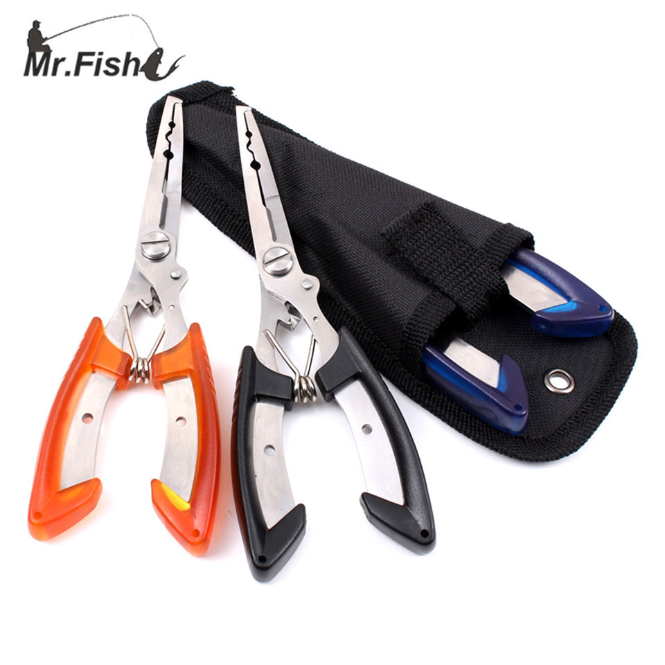 Stainless Steel Fishing Pliers Scissors Line Cutter Remover Hook Tackle Tool