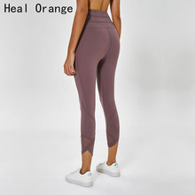 Elastic Mesh Stitching Women Sport Pants Running Leggings Tights Femme Trousers Gym