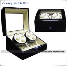 Luxury 4 Quality Automatic Watches Winder Wood 6 Storage Slots houshold convenient watch collection box and