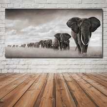 Dropship Modern Canvas Painting large posters Wall Art Pictures Elephants Animal Decorative Posters And Prints for Living Room
