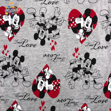 2017 Mickey Mouse cotton knit fabrics prints Patchwork Cartoon beer DIY clothes coat material dress Sewing summer princess A133