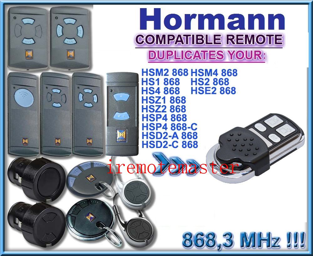 Hormann 868mhz universal remote control replacement transmitter hormann hsz2 868 hsp4 868 hsp4 868 c hsd2 a 868 hsd2 c 868 universal remote control replacement transmitter dhl free shipping