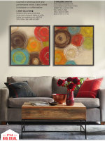 Colored circles modern abstract painting decorative artist canvas wall art free shipping for home office