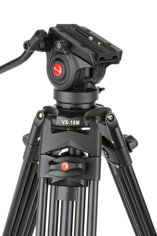 1 8M Viltrox VX 18M Pro Heay Duty Aluminum Video Tripod Fluid Pan Head Carry Bag