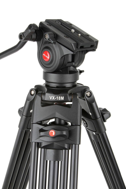1.8 M Viltrox VX 18M Pro Heay Duty trépied vidéo en aluminium + tête panoramique fluide + sac de transport pour appareil photo DV DSLR très Stable-in Trépieds from Electronique    1