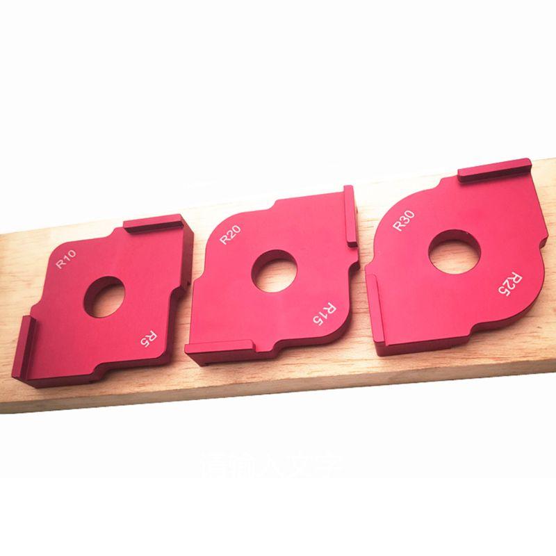 Woodworking Trimming Radius Jig Router Templates Aluminium Alloy Radius Corners R5 R10 R15 R20 R25 R30