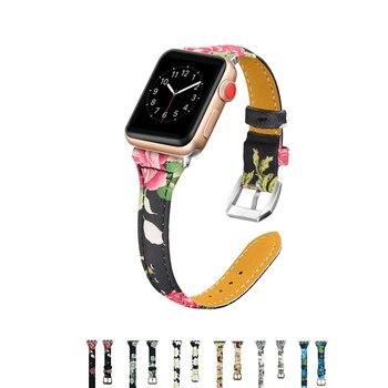 Correa de cuero genuino para Apple Watch band 42mm 38mm Iwatch Series 3 2 1 pulsera correa de muñeca de metal hebilla de reloj correa de reloj