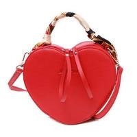 Ruique 2019 Spring New Design Heart Shape Small Shoulder Bag Girls Individual Silk Scarf Handbag Ladies Trendy Messenger Bag