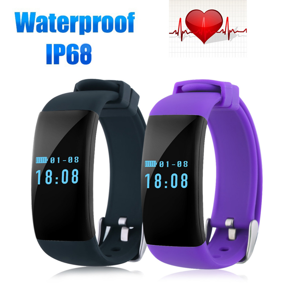 Diggro DFit Wristband IP68 Heart Rate Waterproof Sports Bracelet Bluetooth 4 0 Pedometer Calorie Sleep Monitor