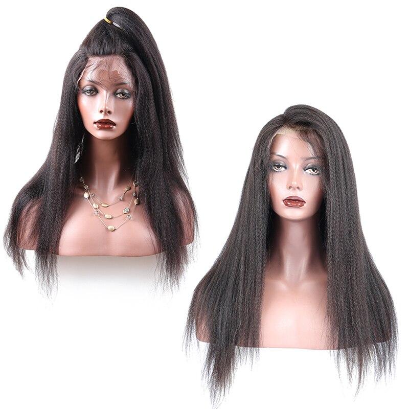 이탈리아어 야키 스트레이트 전체 레이스 인간의 - 인간의 머리카락 (검은 색) - 사진 2