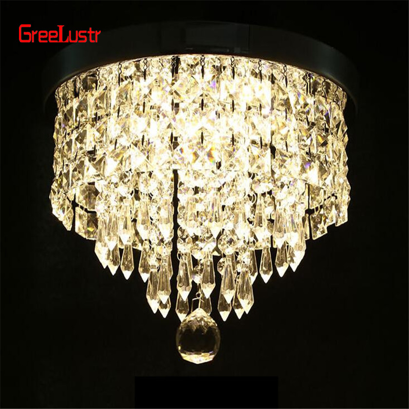Image 4 - AC110V 240V Led Crystal Chandelier Ceiling Lamp Plafon Lustre For Entrance Kitchen lights Chandeliers Fixtures Home Decor-in Chandeliers from Lights & Lighting