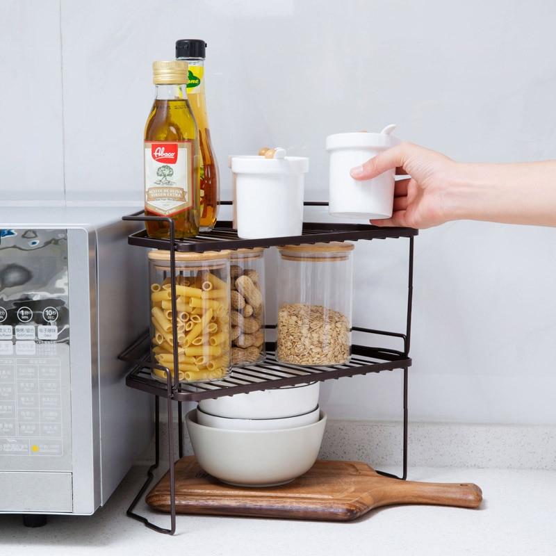 Spices Torage Rack Countertops Racks Kitchen Floor Shelf ...