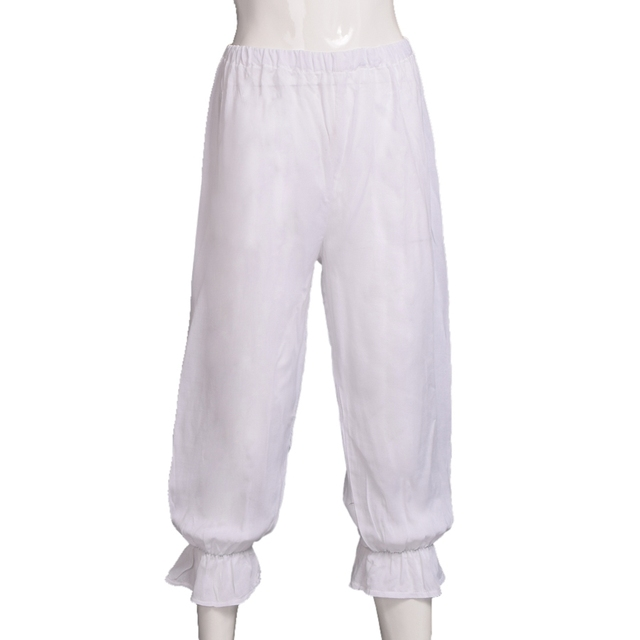 Women Steampunk Bloomers White Victorian Pantaloons Ladies Renaissance Costume