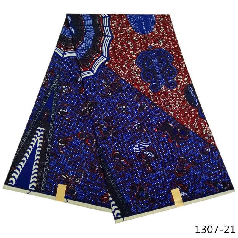 Ankara stoff afrikanische echt wachs druck 100% Polyester Afrikanische Stoff Afrikanische Gedruckt Wachs patchwork stoff 6 yards/stück 1307 -11